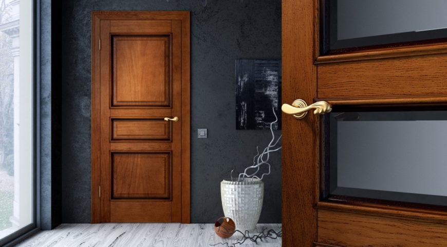 Установка межкомнатных дверей из массива